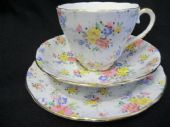 Imperial China Chintz tea trio